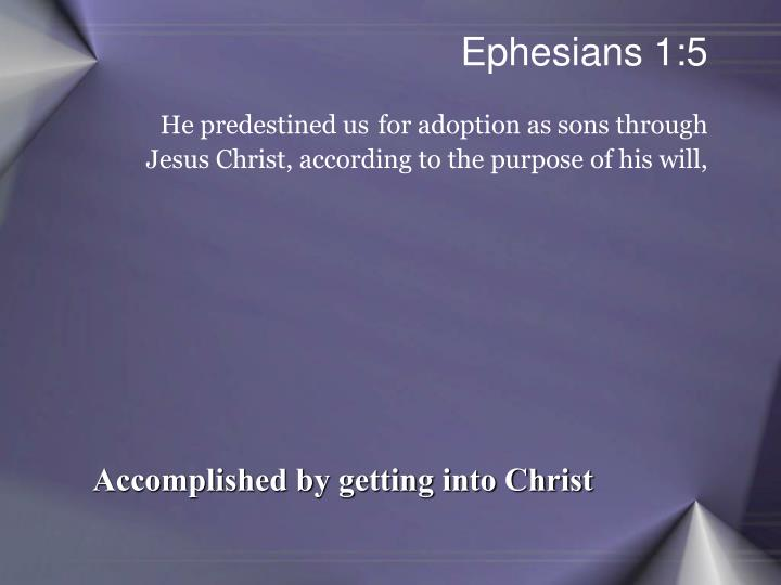 Ephesians 1:5