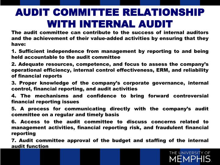 role of internal audit on achievement Internal control is defined as a process, effected by an entity's board of directors,   the achievement of objectives relating to operations, reporting and compliance   it is vital that everyone understand the concept and importance of internal.