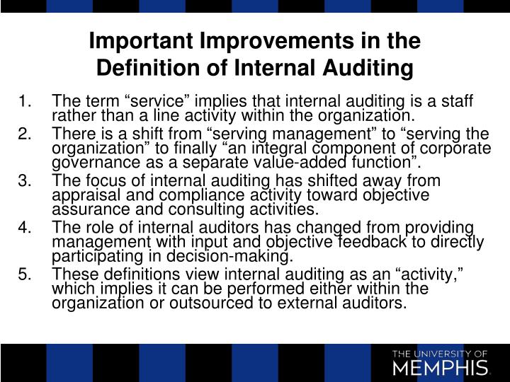the importance of internal audit An understanding of the importance of hiring a quality auditor to perform your this advisory describes why a financial statement audit is important risks to plan sponsors if a quality audit is not performed whether auditors have established quality review and internal.