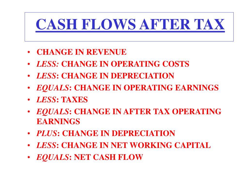 CASH FLOWS AFTER TAX