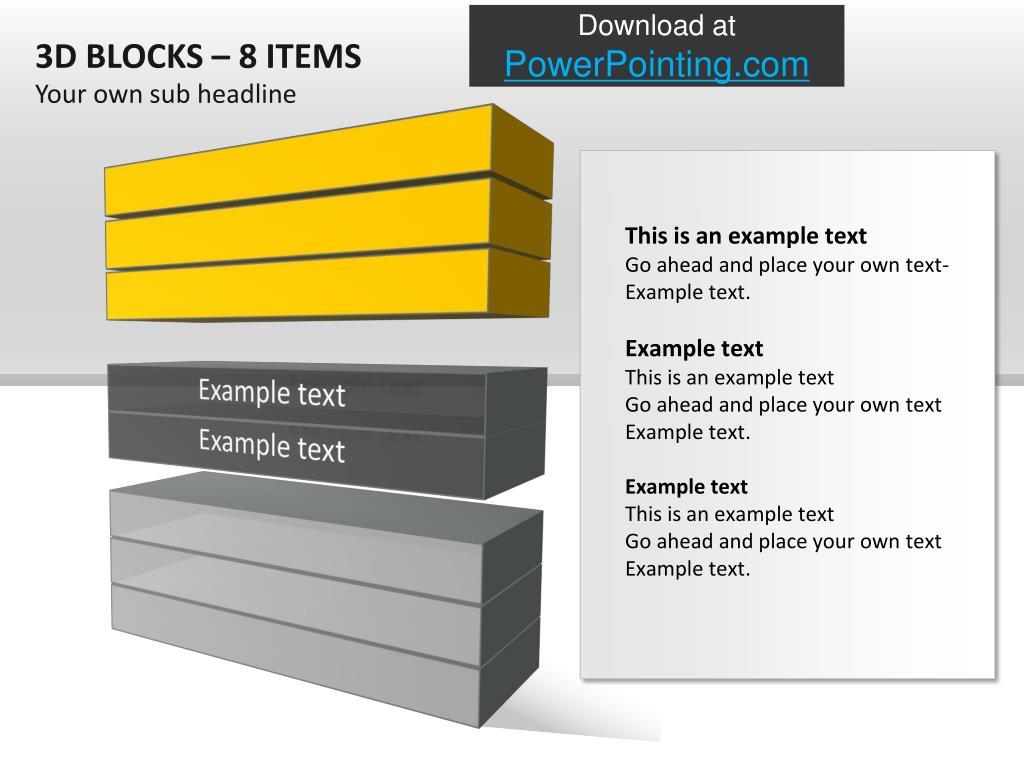 3D BLOCKS – 8 ITEMS