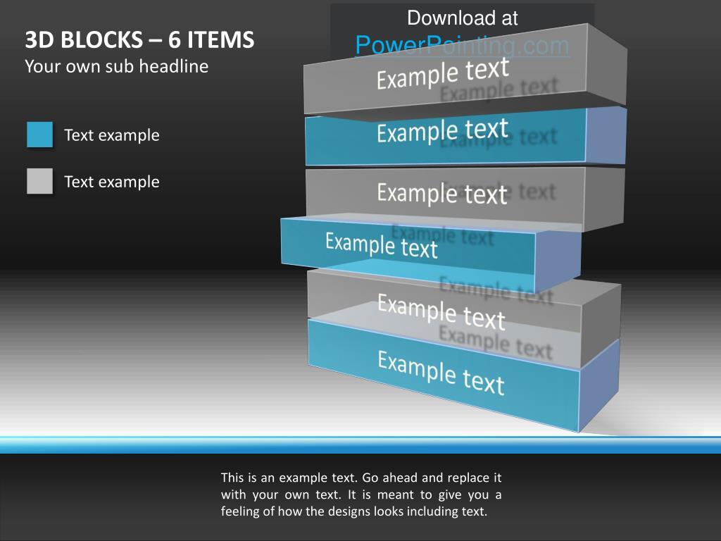 3D BLOCKS – 6 ITEMS
