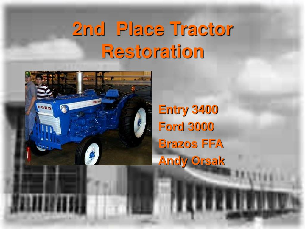 2nd  Place Tractor Restoration
