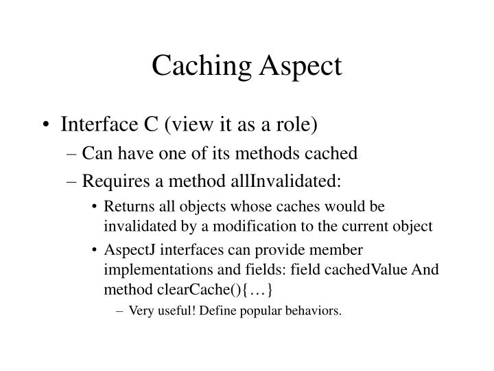 Caching Aspect