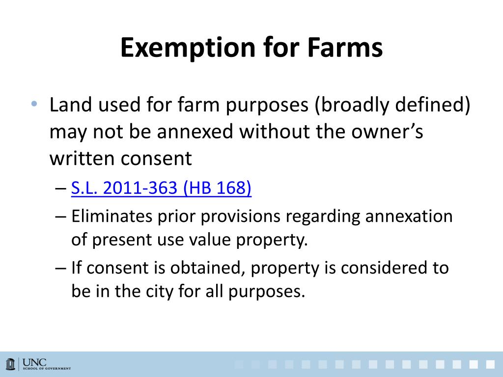 Exemption for Farms