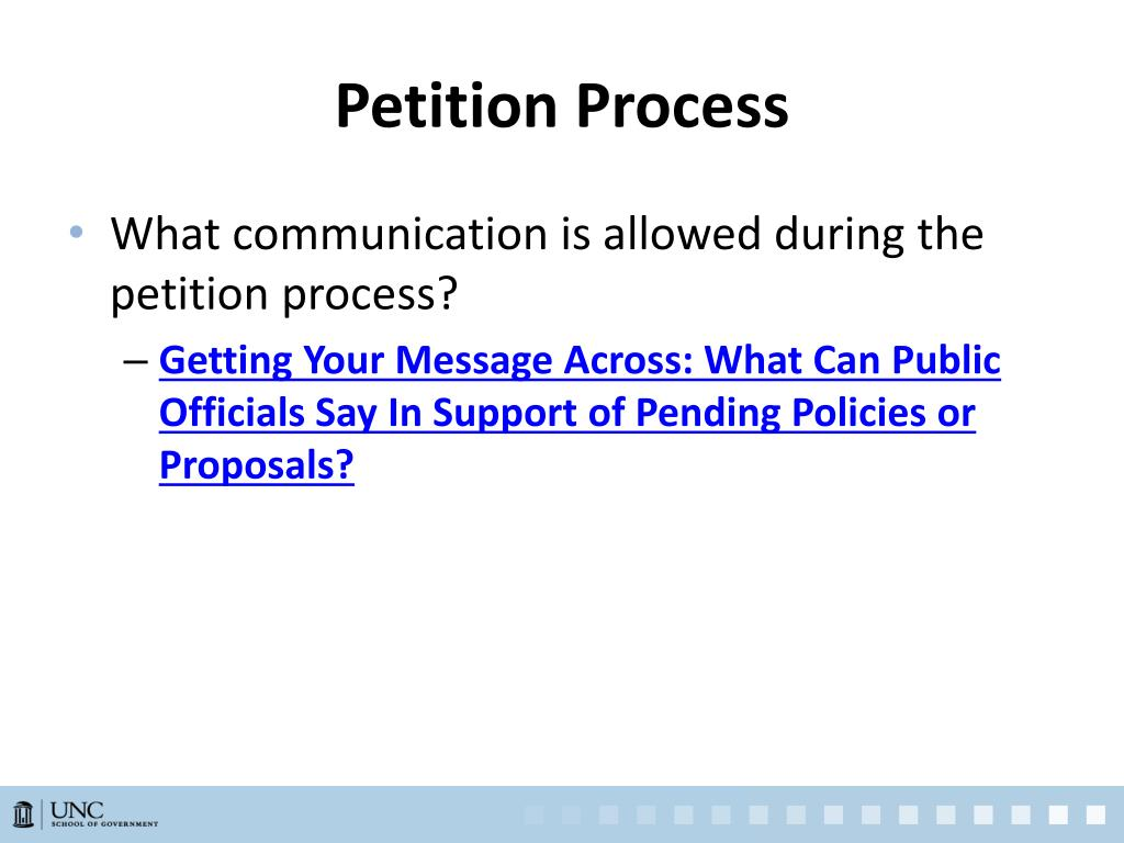 Petition Process