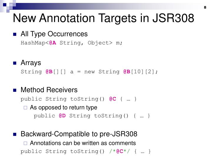 New Annotation Targets in JSR308