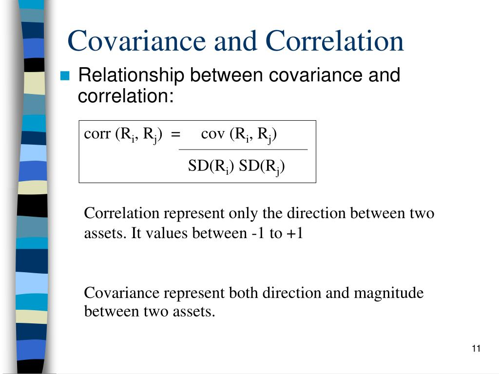 relationship between correlation and covariance matrix portfolio