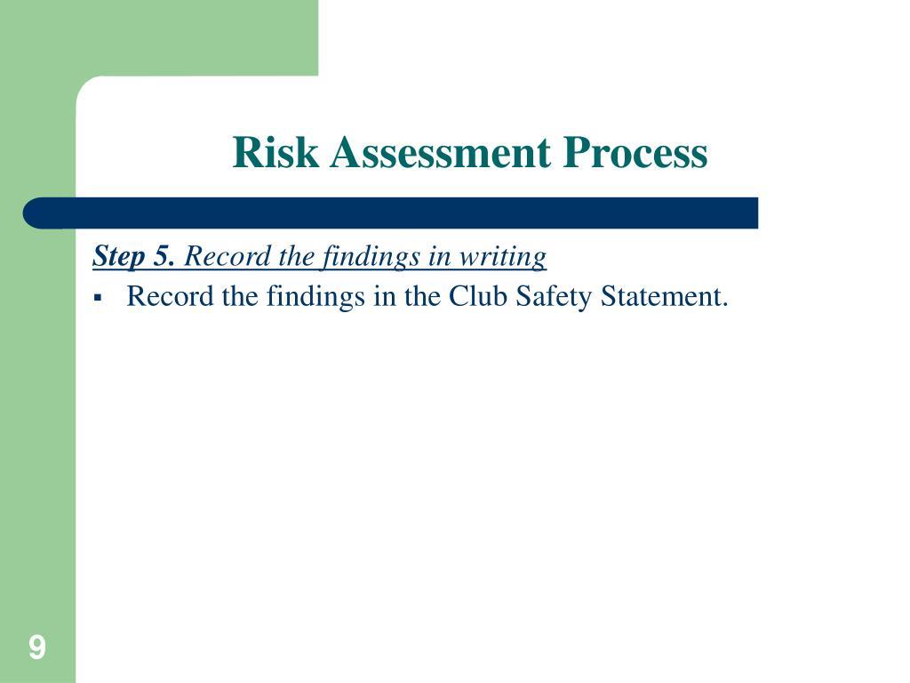 Risk Assessment Process