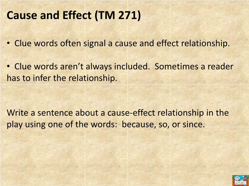 Cause and Effect (TM 271)