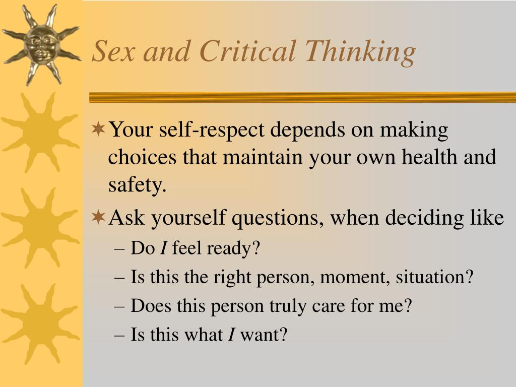 Sex and Critical Thinking