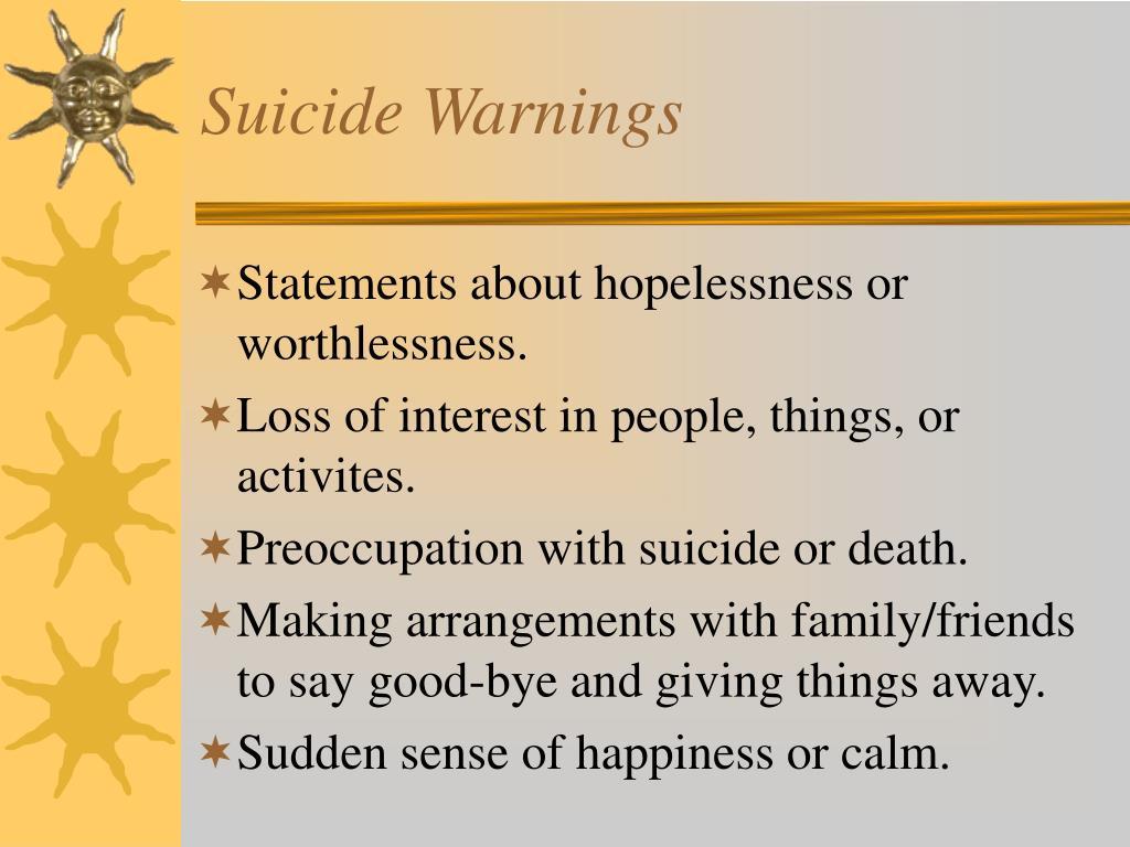 Suicide Warnings
