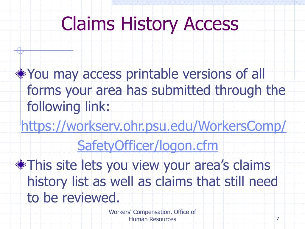 Claims History Access
