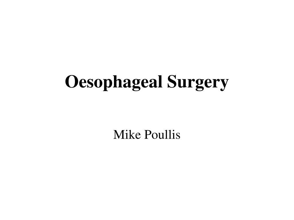 Oesophageal Surgery