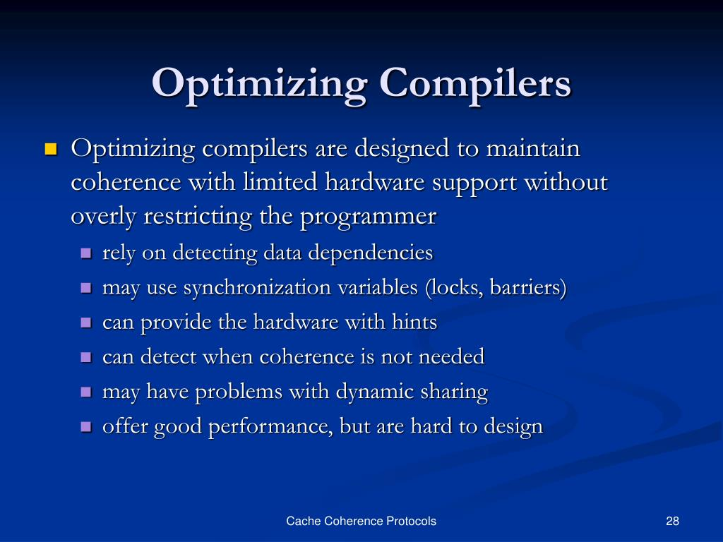 Optimizing Compilers