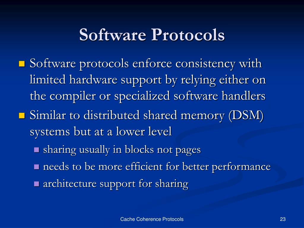 Software Protocols
