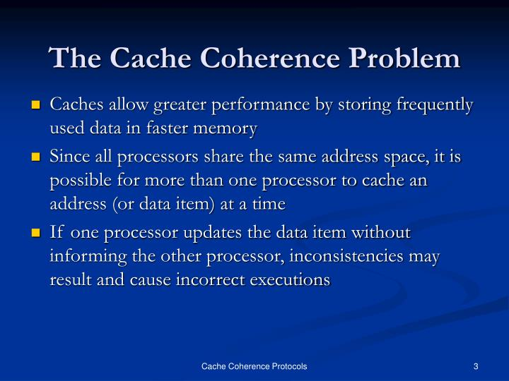 The cache coherence problem