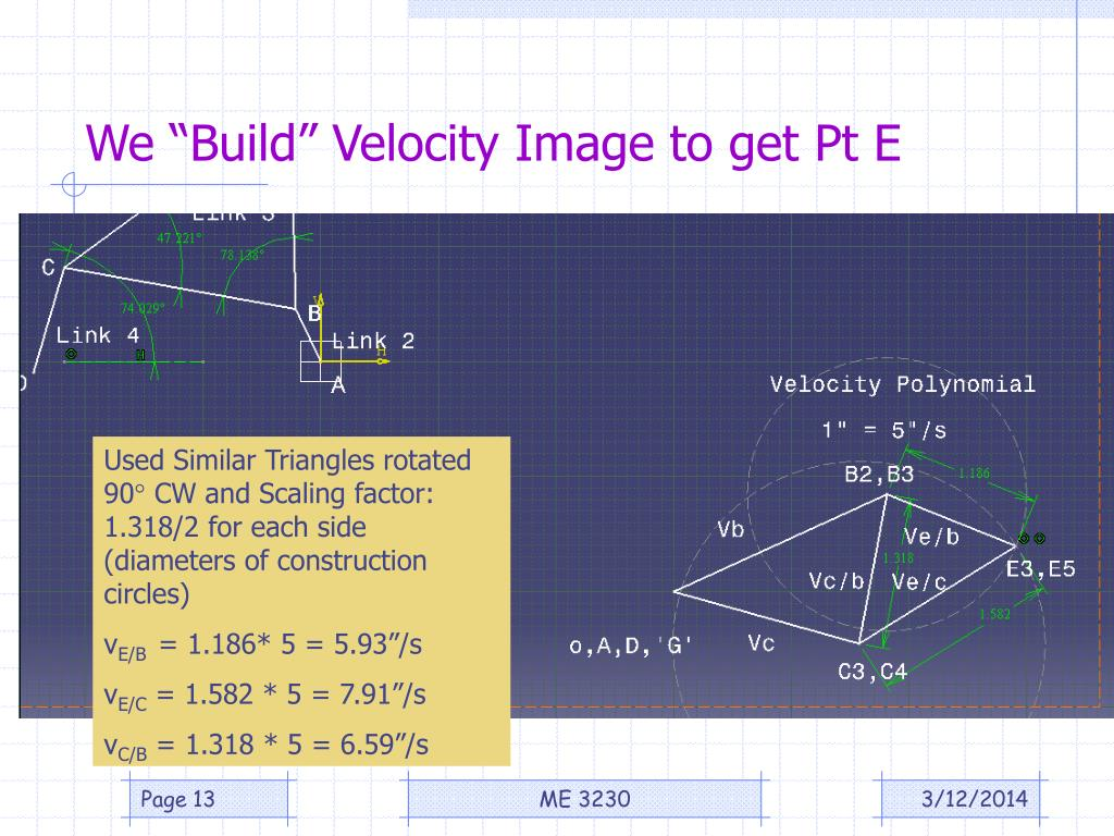 "We ""Build"" Velocity Image to get Pt E"