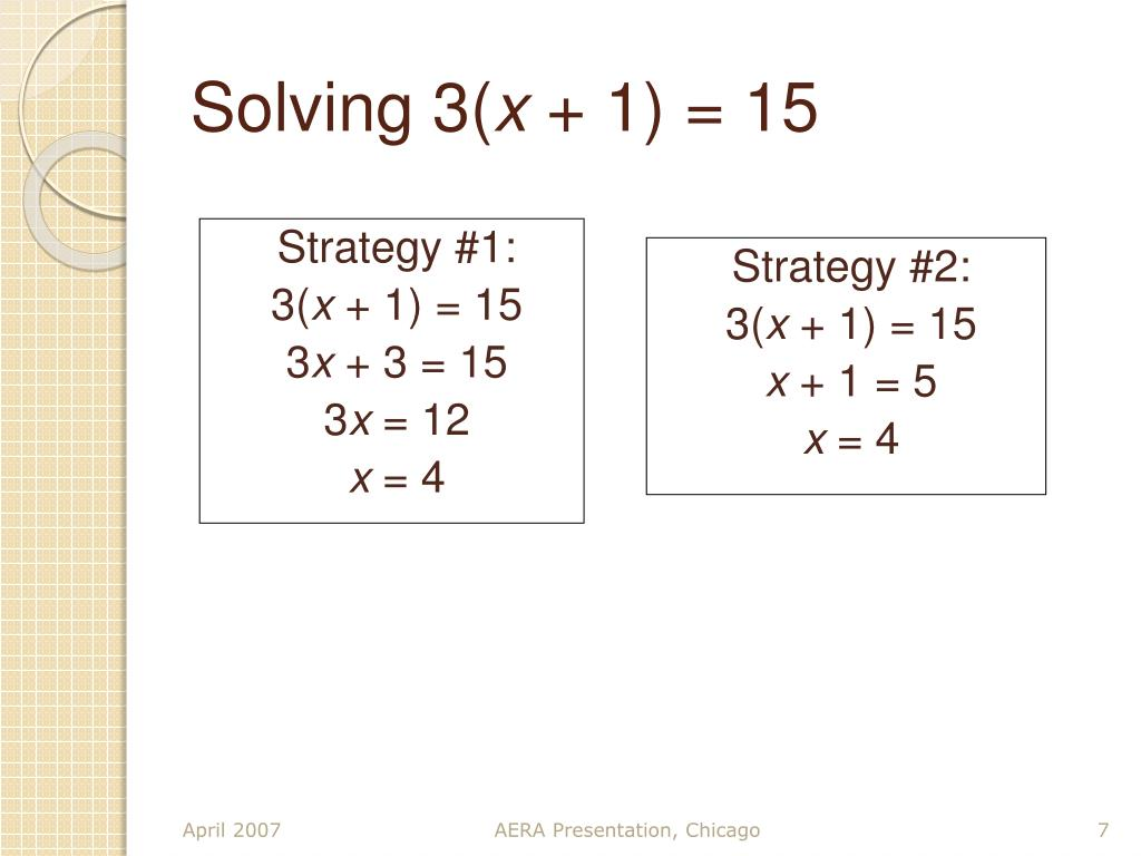 Solving 3(