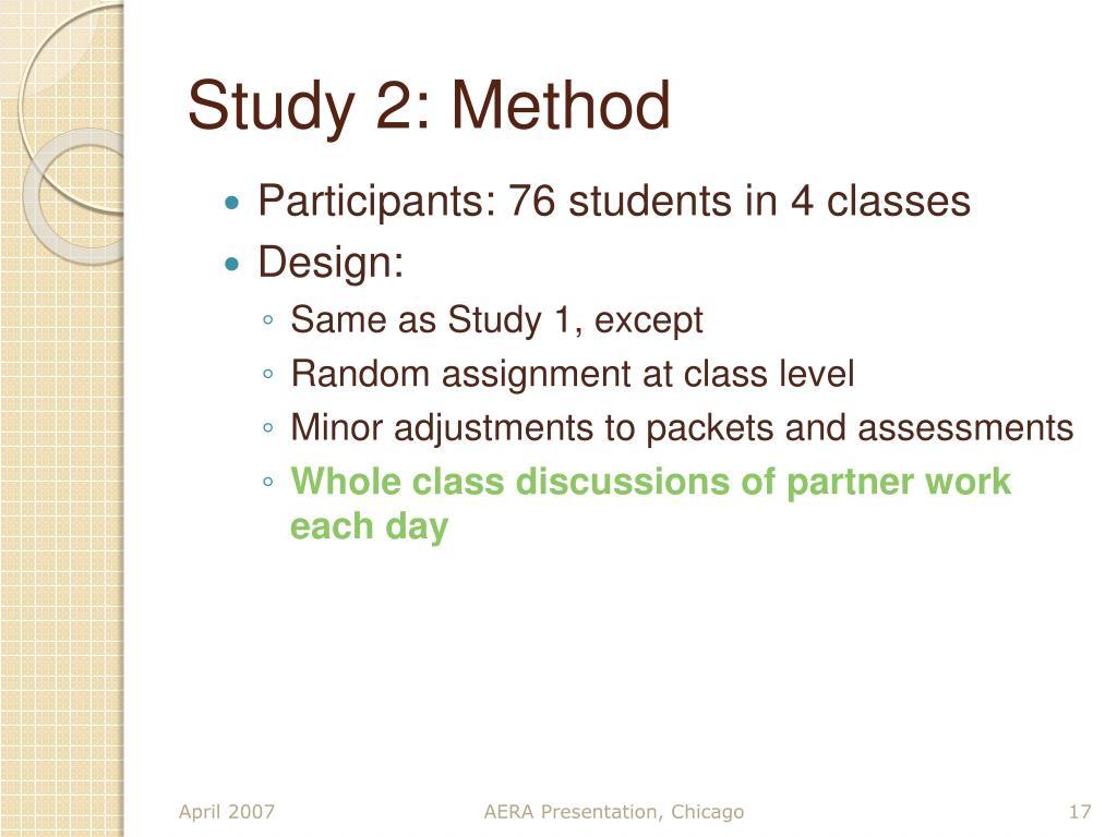 Study 2: Method