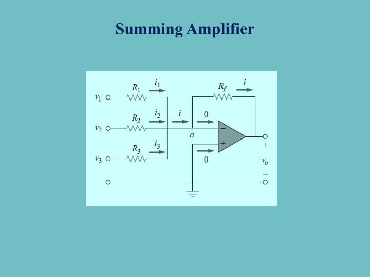 Summing Amplifier