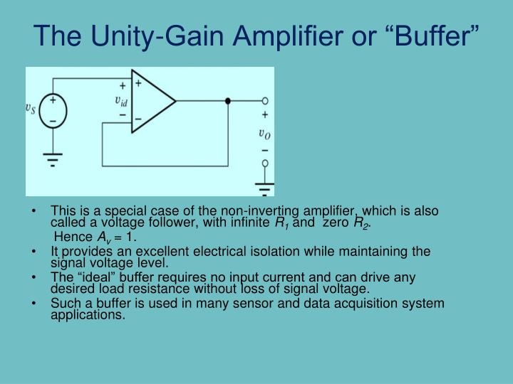 "The Unity-Gain Amplifier or ""Buffer"""
