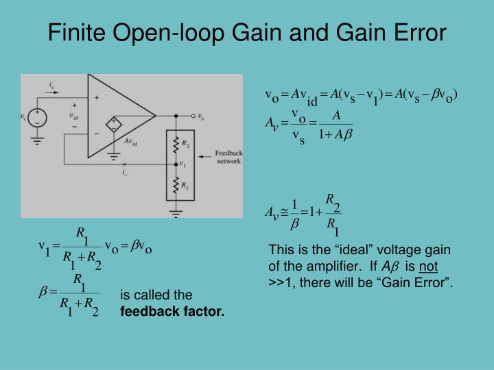 Finite Open-loop Gain and Gain Error