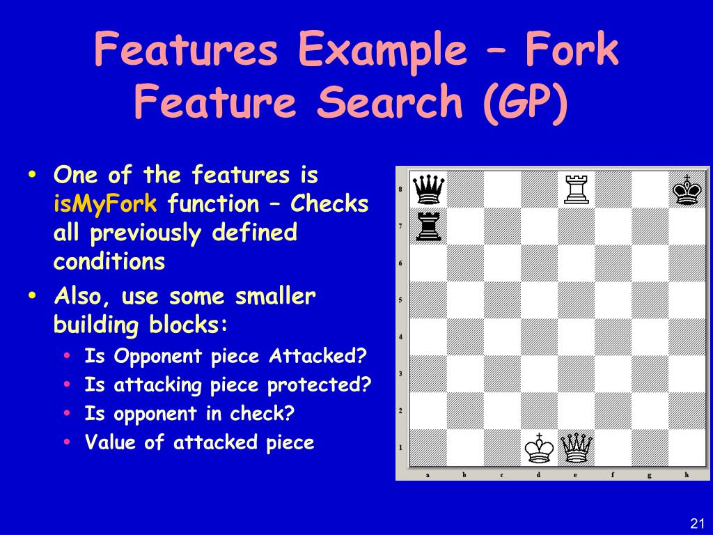 Features Example – Fork