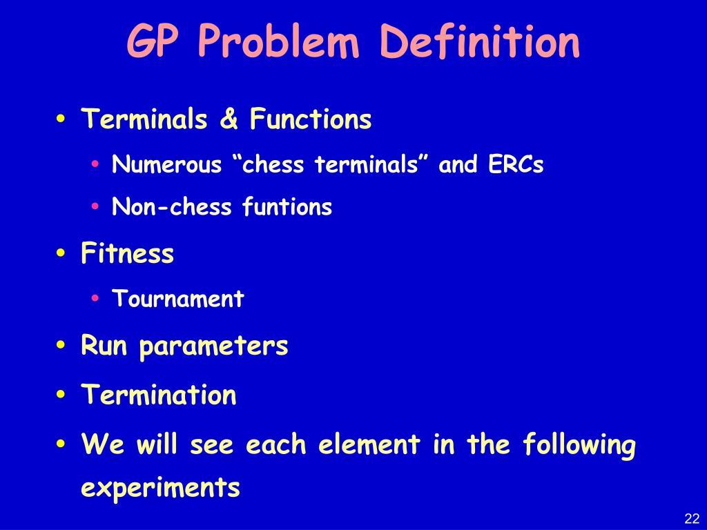 GP Problem Definition