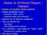human artificial players humans