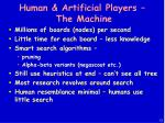 human artificial players the machine13