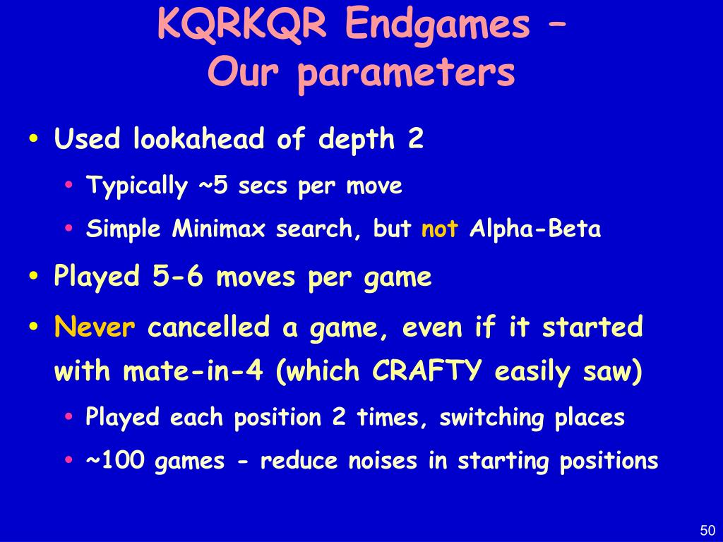 KQRKQR Endgames –