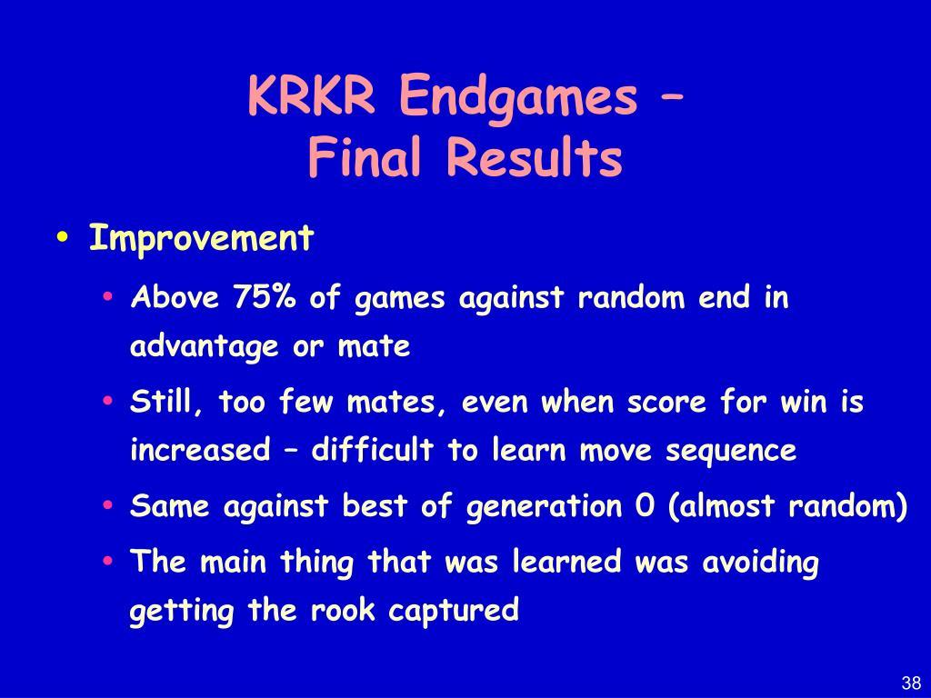 KRKR Endgames –