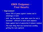 krkr endgames final results
