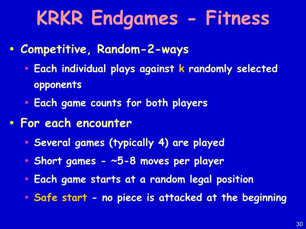 KRKR Endgames - Fitness