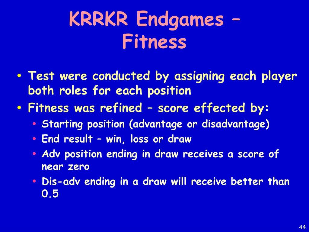 KRRKR Endgames –