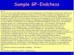 sample gp endchess