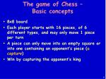 the game of chess basic concepts