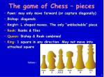 the game of chess pieces