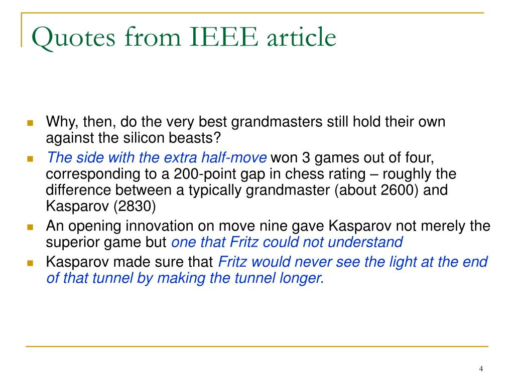 Quotes from IEEE article