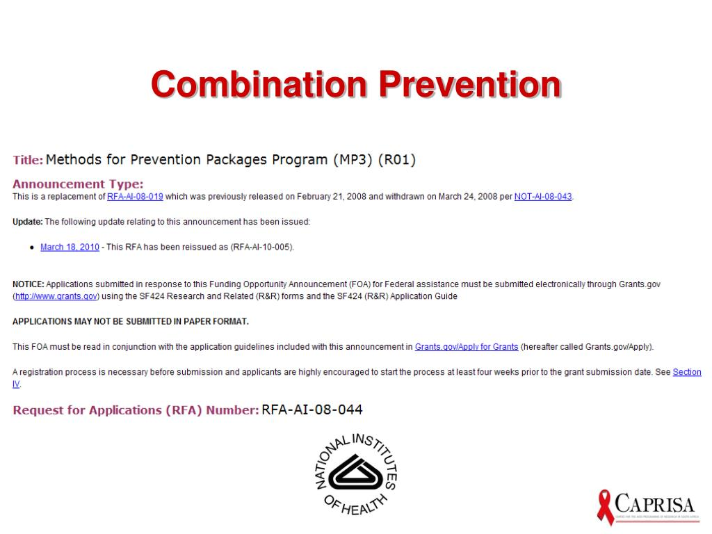 Combination Prevention