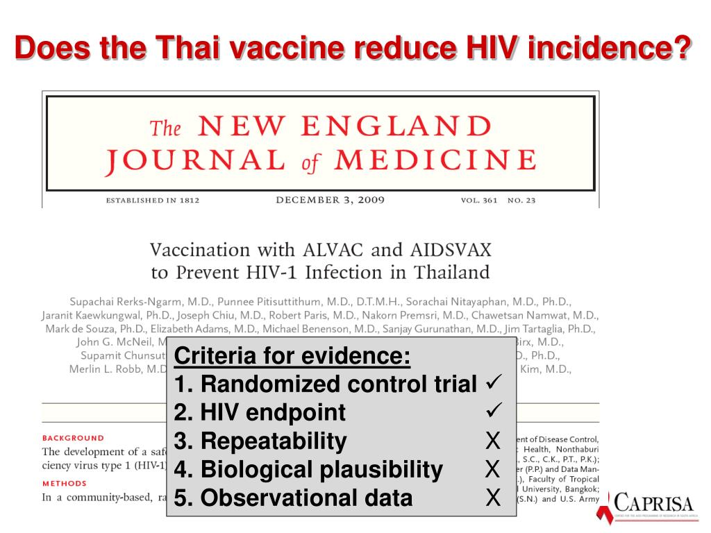Does the Thai vaccine reduce HIV incidence?