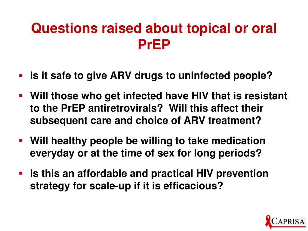 Questions raised about topical or oral PrEP