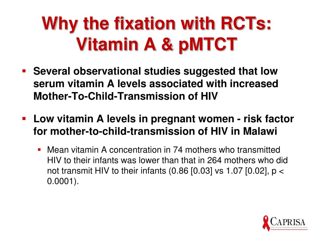 Why the fixation with RCTs: Vitamin