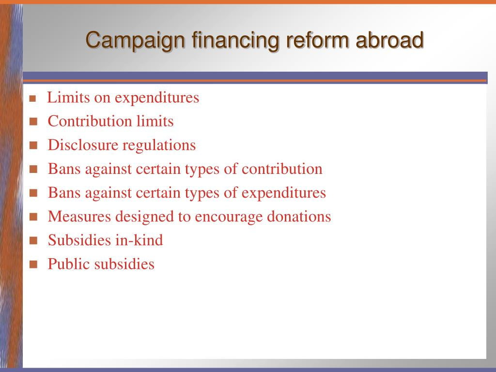 Campaign financing reform abroad
