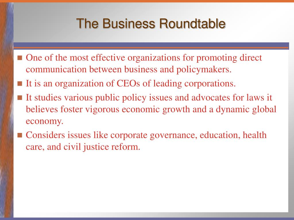 The Business Roundtable
