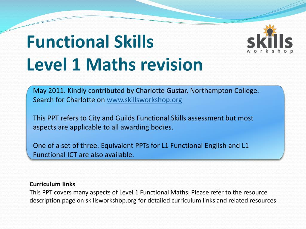 Embed elements of functional skills