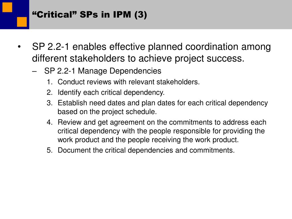 """Critical"" SPs in IPM (3)"