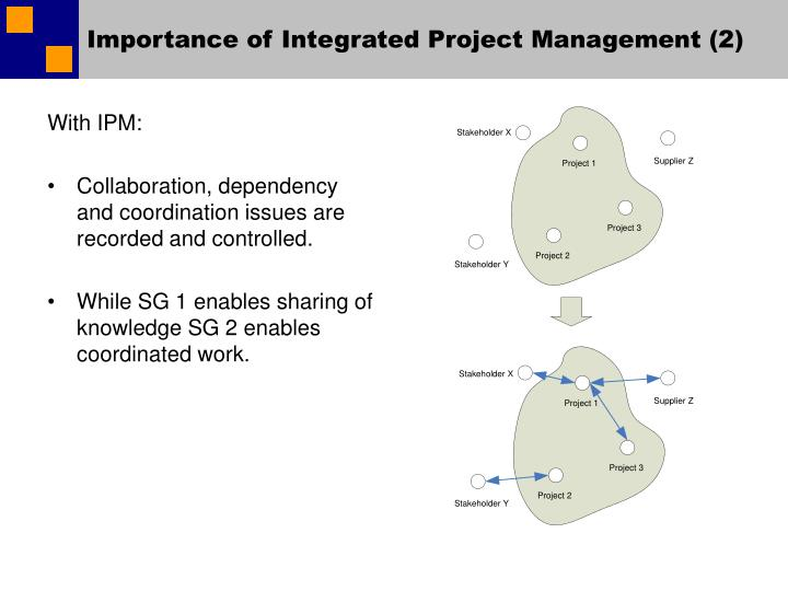 Importance of integrated project management 2