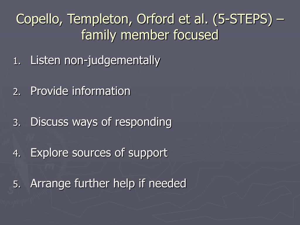 Copello, Templeton, Orford et al. (5-STEPS) – family member focused